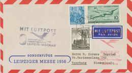 DDR 1956 Sternflug Zur Leipziger Frühjahrs-Messe AMSTERDAM – LEIPZIG - AMSTERDAM - Cartas