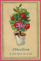 """Hevillers - Belgique : Carte Fantaisie Collage Chromos """" Fleurs D'Hevillers """" Cachet Départ Mont-Saint-Guibert 1908 - Altri"""