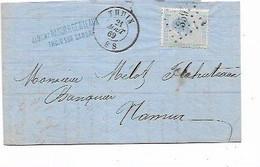 SH 0844. N° 18 LP 359/THUIN 21 AOÛT 69 S/LAC V. Namur. TB - 1865-1866 Profil Gauche