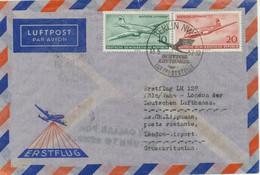 """DDR 1957 DDR-Mitläuferpost Zum Erstflug Der Dt. Lufthansa CV-440 """"KÖLN - LONDON"""" - Cartas"""
