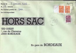 TYPE MARIANNE DE LAMOUCHE N°3739x2+3757 SUR LETTRE HORS SAC DE DAX/9.1.06 - 2004-08 Marianne De Lamouche