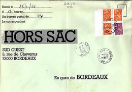 TYPE MARIANNE DE LAMOUCHE N°3739x3+3757 SUR LETTRE HORS SAC DE DAX/18.1.06 - 2004-08 Marianne De Lamouche