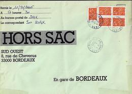 TYPE MARIANNE DE LAMOUCHE N°3739x5 SUR LETTRE HORS SAC DE DAX/11.7.05 - 2004-08 Marianne De Lamouche