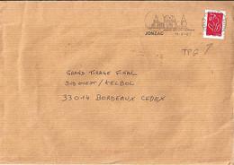 TYPE MARIANNE DE LAMOUCHE N°3744A (TPG: GRANDE HAUTEUR) SUR LETTRE DE JONZAC/19.6.07 - 2004-08 Marianne De Lamouche