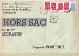TYPE MARIANNE DE LAMOUCHE N°3744x4/3737 SUR LETTRE HORS SAC DE ARCACHON/23.02.05 - 2004-08 Marianne De Lamouche