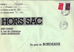 TYPE MARIANNE DE LAMOUCHE N°3744/3759 SUR LETTRE HORS SAC DE DAX/26.10.05 - 2004-08 Marianne De Lamouche