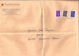 TYPE MARIANNE DE LAMOUCHE N°3755/3754/3732 SUR LETTRE CROIX ROUGE MASSEUBE/21.11.06 - 2004-08 Marianne De Lamouche