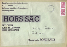 TYPE MARIANNE DE LAMOUCHE N°3757a X 2 SUR LETTRE HORS SAC DE ARCACHON / 21.04.05 - 2004-08 Marianne De Lamouche
