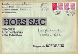 TYPE MARIANNE DE LAMOUCHE N°3757a X 3/3744 SUR LETTRE HORS SAC DE ARCACHON / 5.4.05 - 2004-08 Marianne De Lamouche