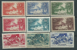 Guinée Française N° 125 / 46 XX  La  Série Des  22 Valeurs Sans Charnière, TB - Unused Stamps