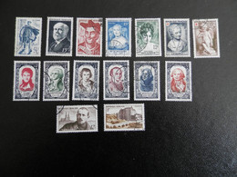 FRANCE ANNEE COMPLETE 1950 SOIT 15 TIMBRES OBLITERES 1ER CHOIX - 1950-1959
