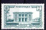 MARTINIQUE - 1933-38: Hôtel Du Gouverneur à Fort De France (N°134**) - Neufs