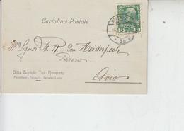 AUSTRIA  1909 - Cartolina Pubblicitaria Da Rovereto  Per Avio -.- - Storia Postale