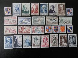 FRANCE ANNEE COMPLETE 1953 SOIT 28 TIMBRES OBLITERES 1ER CHOIX ; VOIR PHOTOS - 1950-1959