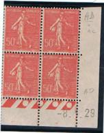 50c Semeuse Lignée Yvert 199, AD De AD+AC Du 8-1-29, ** - ....-1929