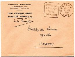 LOT - Dépt N° 46 = BRETENOUX 1960 =  FLAMME  DAGUIN   'QUERCY / PECHE / EXCURSIONS ' - Oblitérations Mécaniques (Autres)