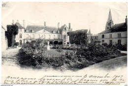 CPA 91 ( Essonne ) - ATHIS MONS - Le Chateau Et L'Eglise - Athis Mons