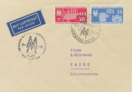 DDR 1959 Leipziger Frühjahrs-Messe Dt.Lufthansa Ost Sonderflug LEIPZIG-BERLIN - Cartas