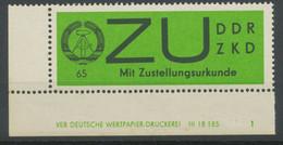 DDR 1965 Dienstmarken Sendungen M Zustellungsurkunde Gewöhnliches Papier 65 Pf - Neufs