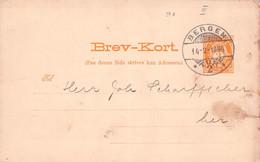 NORWAY - BREV-KORT 3 ORE 1894 BERGEN /Q306 - Enteros Postales