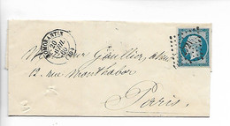 ROMORANTIN Loir Et Cher N° 14 (belles Marges) + PC 2721 + CAD Type 15 Du 20.41860        ...G - 1849-1876: Periodo Classico