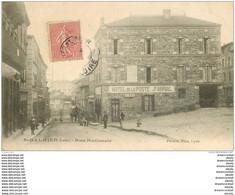 42 SAINT-GALMIER. Hôtel De La Poste Par Abrial Rue Nationale Vers 1905 - Other Municipalities
