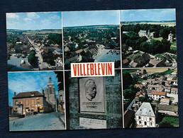 Villeblevin - La Grande Rue - Place De La Mairie - Le Château - Le Centre - Effigie D'Albert Camus -Un Aspect Du Village - Villeblevin