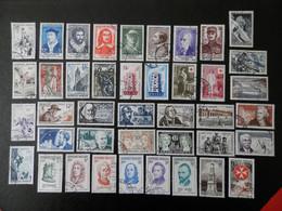 FRANCE ANNEE COMPLETE 1956 SOIT 41 TIMBRES OBLITERES 1ER CHOIX ; VOIR PHOTOS - 1950-1959