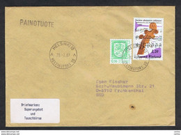 FINLAND: 1987 COUVERT WITH: 50 P. + 1 M.20 (749 + 860) - TO GERMANY - Cartas