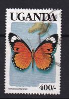 Uganda: 1989   Butterflies   SG756    400/-    Used - Uganda (1962-...)