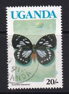 Uganda: 1990/92   Butterflies  SG865A    20/-  [no Imprint Date]  Used - Uganda (1962-...)
