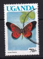 Uganda: 1990/92   Butterflies  SG869A    70/-  [no Imprint Date]  Used - Uganda (1962-...)