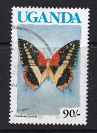 Uganda: 1990/92   Butterflies  SG870A    90/-  [no Imprint Date]  Used - Uganda (1962-...)