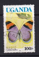 Uganda: 1990/92   Butterflies  SG871B    100/-  [with Imprint Date]  Used - Uganda (1962-...)