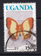 Uganda: 1990/92   Butterflies  SG872A    150/-  [no Imprint Date]  Used - Uganda (1962-...)