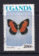 Uganda: 1990/92   Butterflies  SG873B    200/-  [with Imprint Date]  Used - Uganda (1962-...)