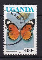Uganda: 1990/92   Butterflies  SG874B    400/-  [with Imprint Date]  Used - Uganda (1962-...)