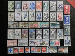 FRANCE ANNEE COMPLETE 1958 SOIT 47 TIMBRES OBLITERES 1ER CHOIX ; VOIR PHOTOS - 1950-1959
