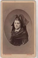 CDV Photo Originale XIXème Femme Alsacienne Tenue Traditionnelle Par MAZERAN SAALES Cdv3007 - Alte (vor 1900)
