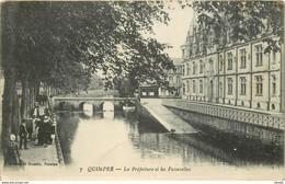 WW 29 QUIMPER. Préfecture Et Passerelles. Tampon Hôpital Militaire 1918 - Quimper