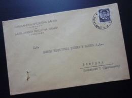 Yugoslavia 1939 Bank Cover LJUBLJANSKA KREDITNA BANKA From Novi Sad To Belgrade Serbia Credit  Ljubljana Slovenia B2 - Briefe U. Dokumente