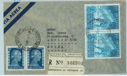 94053 - ARGENTINA - POSTAL HISTORY - REGISTERED COVER To SWITZERLAND 1954  Evita - Briefe U. Dokumente