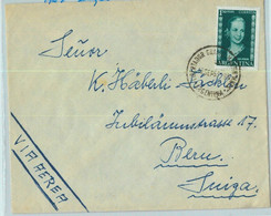 94054 - ARGENTINA - POSTAL HISTORY - Airmail COVER To SWITZERLAND 1953  Evita - Briefe U. Dokumente
