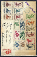 ⭐ Madagascar - Oblitéré Sur Lettre - Ankaramena - Par Avion - 1948 ⭐ - Brieven En Documenten