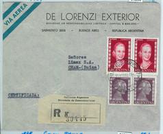 94056 - ARGENTINA - POSTAL HISTORY - REGISTERED COVER To SWITZERLAND 1953  Evita - Briefe U. Dokumente