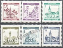 Croatia - Croatie Krajina 1996 Yvert 49-54, Definitive, Churches - MNH - Croacia