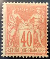 94 Sage 40c Vermillon Sur Jaune Neuf ** - 1876-1898 Sage (Type II)