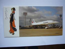 Avion / Airplane / AIR FRANCE / Concorde / 1st Flight Paris - Tokyo / Registered As F-BISC / Jun 26,1979 / Size; 10,5X21 - 1946-....: Era Moderna