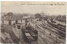 Dijon : Vue Panoramique De La Gare De Dijon-Ville (Editeurs Bauer, Marchet Et Cie) - Dijon