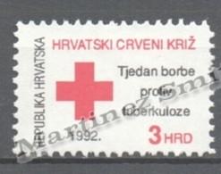 Croatia - Croatie - Croacia Beneficence 1992 Yvert 23, In Profit Of Red Cross - MNH - Croacia